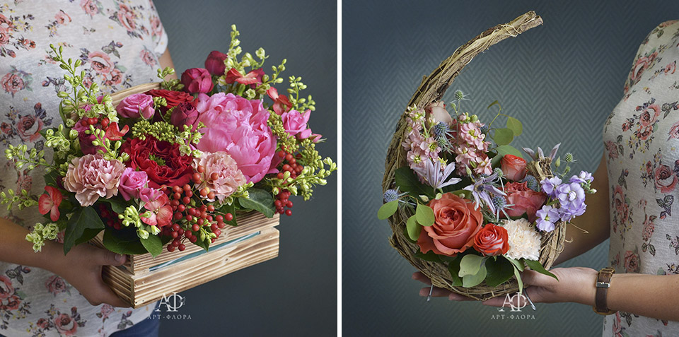 корзина цветов к 1 сентября